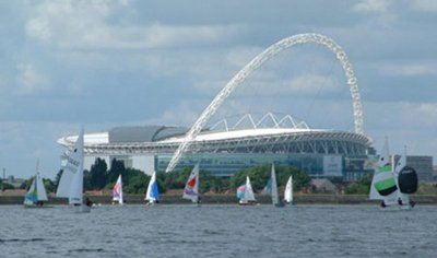 Sailing in front of Wembley Stadium