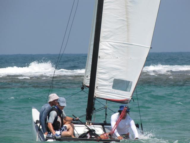 Sailing in Israel Catamaran