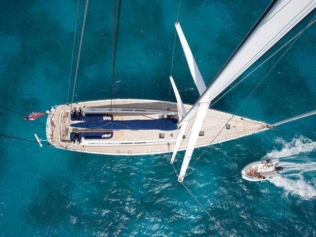 Sailing Yacht Charters Aerial View