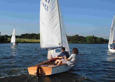 Mark's GP14 racing on the Welsh Harp
