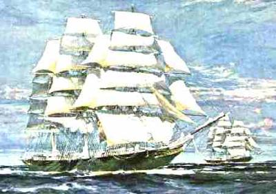 Cutty Sark racing Thermopylae