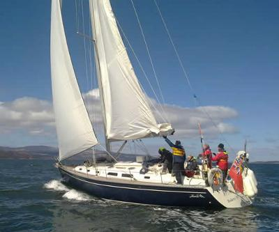 A typical ScotSail Training Yacht....