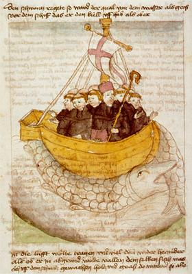 St Brendan and the whale from a 15th century manuscript